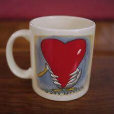 Waechtersbach Gans Herzlich Germany Duck Heart Ceramic Tea Cup Coffee Mug
