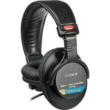 Sony MDR-7506 Closed-Back Professional Monitor Overhead Headphones