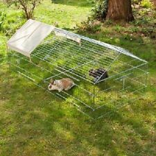 Run Pen 4 Sided Pitched Roof Sun Protection Rabbits Guinea Pigs Chickens Ducks