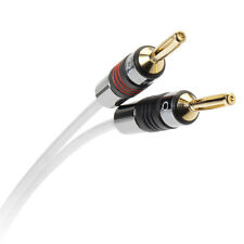 2x QED Silver Anniversary XT Speaker Cable 3m with QED Airloc Forte Banana Plugs