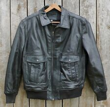 Leather Bikers Jacket  Vintage Leather By Merona Jacket Size L  Fully Lined