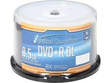 Optical Quantum 8.5GB 8X DVD+R DL White Inkjet Hub Printable 50 Packs Disc Model