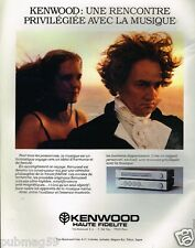 Publicité advertising 1980 Hi-Fi Ampli Kenwood