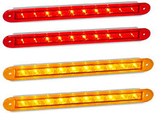 TRAILER PAIRS RECESSED STRIP LAMPS. 2 X AMBER. 2 X RED 235 S LED  AUTOLAMPS.