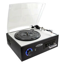 PTTC4U Multi function Turntable With MP3 Recording, USB-to-PC, Cassette Playback