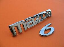09 10 11 12 13 MAZDA 6 MAZDA6 REAR TRUNK LID EMBLEM LOGO BADGE SIGN SYMBOL SET