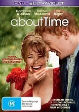 ABOUT TIME-Domhnall Gleeson,Rachel McAdams-Region 4-New Sealed-DVD+Ultraviolet