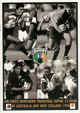 N TRANSVAAL SUPER 12 TOUR OF AUSTRALIA & NZ 1996 SOUTH AFRICA RUGBY BOOKLET