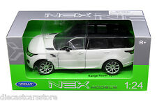 WELLY 2015 RANGE ROVER SPORT SUV 1/24 DIECAST WHITE with BLACK TOP 24059W-WH