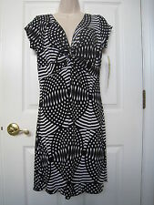 Women's Juniors Love Rocks Black and White Short Sleeve Dress Size L