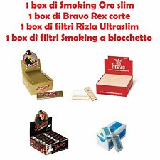 SMOKING ORO SLIM br / BRAVO REX CORTE br / FILTRI RIZLA ULTRASLIM br / SMOKING F