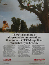 2/1991 PUB HONEYWELL RACAL AIR GROUND COMMUNICATIONS SATCOM ARINC ORIGINAL AD