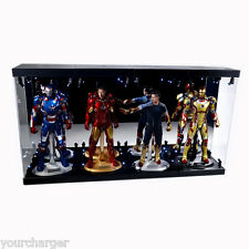 "MB-4 Acrylic Display Case LED Light Box for four 12"" 1/6th Scale IRON MAN Figure"