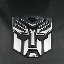 Classical Chrome 3D Transformer Autobot Logo Emblem Badge Sticker Decal
