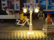 lampadaire double lamppost LED 10190 10197 10211 10218 train 12v modular city
