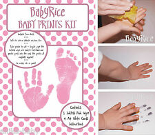 New Baby Girl Hand & Footprint Prints Kit Set Maternity Hospital Bag Shower Gift