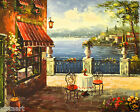 """Quality Oil Painting on Stretched Canvas 20""""x 24""""-Seaside View from Patio"""