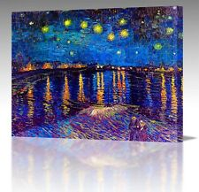 "30x20"" Inch Vincent Van Gogh Starry Night Over Rhone France Canvas Art Print A1"