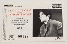 LLOYD COLE : rare billet ticket concert FRANCE Strasbourg 26/03/1988