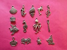 Tibetan Silver Mixed Little Mermaid/Under the sea charms 14 per pack
