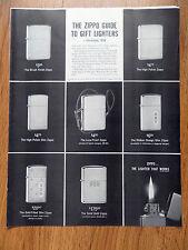 1959 ZIPPO Lighter Ad Christmas Guide Shows 8 Zippos Lighters