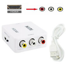 1080P Mini Composite HDMI to RCA Audio Video AV CVBS Adapter Converter F HDTV US