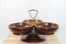 Margaret Studio Inc. Murphy NC Lazy Susan Three Part Wooden Relish Tray