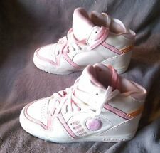 L.A. Gear White & Pink HI TOP SNEAKERS Womens Size 6 1/2