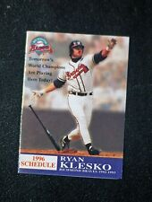 1996 Richmond Braves Bud Pocket Schedule ex.