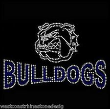 Bulldogs Rhinestone Iron on Transfer           L2QL