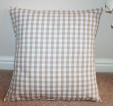 LAURA ASHLEY CUSHION COVER GINGHAM LINEN CHECK 18 X 18""