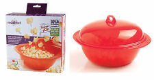 Mastrad Minute Microwave Popcorn Pop Corn Maker Cooker Serving Bowl New Boxed
