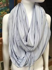 Lululemon Huge Infinity Large Heathered Light Blue Scarf