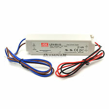 Meanwell 12V 5A 60W LED Driver LPV-60-12 IP67 60 Watt Power Supply - 32 CASE