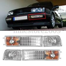 Pair Fog Lights & Turn Signals Light For Volkswagen VW MK3 Jetta/Golf 1992-1997