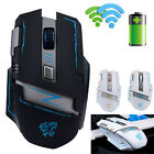 2.4G Wireless Rechargeable 2400DPI 6 Buttons Optical Ergonomic Gaming Mouse Mice