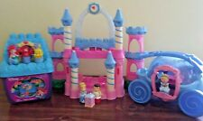 Mega Bloks Disney Princess Cinderella Ariel Little Mermaid Carriage Castle Lot