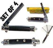 4 POCKET SWITCHBLADE COMB Fake Folding Knife Toy Gag SWITCH BLADE COMB Keychain