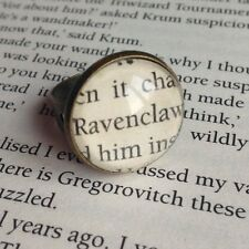 VINTAGE STYLE HARRY POTTER RAVENCLAW HOGWARTS ALTERED BOOK QUOTE RING