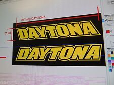 """DAYTONA (specify color) decals, LH/RH slant, 1 pair, 36"""" long for HOOD placement"""