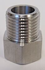 "NEW 304 STAINLESS STEEL ADAPTER 1/2"" NPT MALE X 1/2"" BSPP FEMALE"
