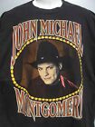 vtg 94 John Michael Montgomery 2 sided black country music concert t shirt sz XL