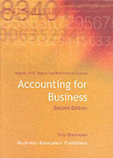 Accounting for Business Second Edition by Tony Blackwood - Business Education