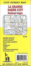 City Street Map of La Grande, Baker City, & NE Oregon, Oregon, by GMJ
