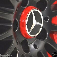 4 stuck MERCEDES BENZ Felgendeckel Rot A0004000900 AMG Edition One 75mm AMG 75mm