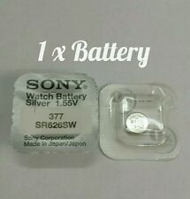 1 x Sony Watch Battery Cell Button Silver-Oxide 1.55v-377 SR626SW AG-4 377 ..