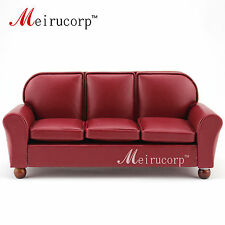 Dolls furniture Fine 1/12 scale Miniature well made Red Living Room Sofa