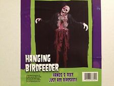 HAUNTED Bloody ZOMBIE SKELETON Corpse w/ Chains Hanging BIRD FEEDER PROP