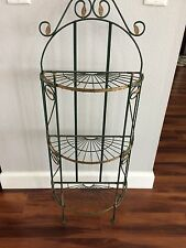 Vintage Metal Iron 3 Tier Metal Plant Pot Stand Holder Garden Yard Decor Folding