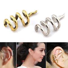 2 PZ unico Serpente Orecchini Ear Cuff Clip Avvolgere Gotico Punk Rock Jewelry regalo